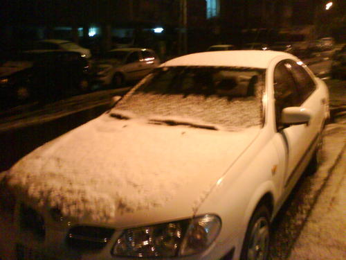 snow in the center of israel its rare