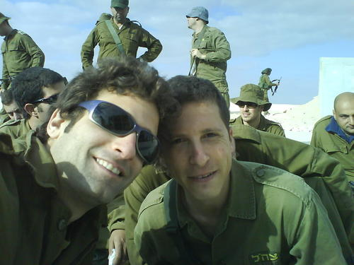 me and oren on the military service